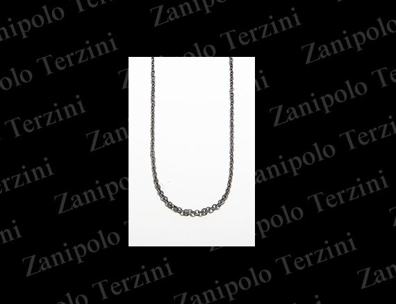 a1481-BK-50 Zanipolo Terzini ザニポロ タルツィーニ チェーン幅2.2mm(ブラック) 50cm