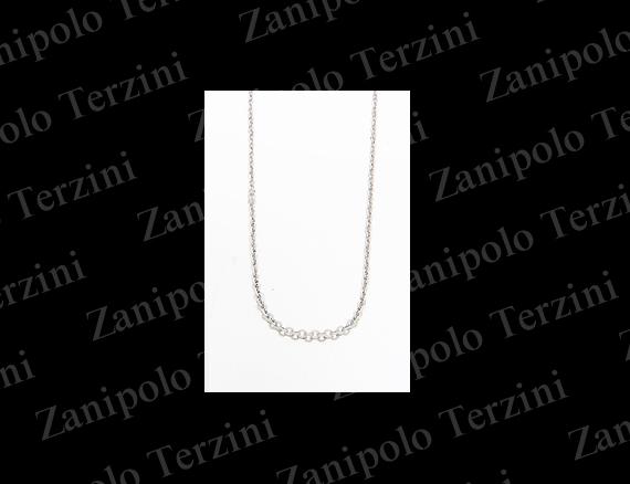 a1481-NOR-45 Zanipolo Terzini ザニポロ タルツィーニ チェーン幅2.2mm(ノーマル) 45cm