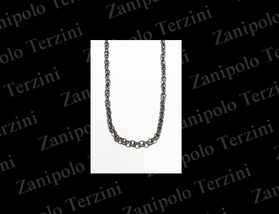 a1482-BK-45 Zanipolo Terzini ザニポロ タルツィーニ チェーン幅3.0mm(ブラック) 45cm